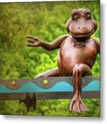 Leaping Frog In Boston  Metal Print