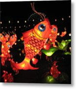 Leaping Goldfish Metal Print