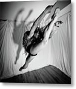 Leaping In Studio Metal Print