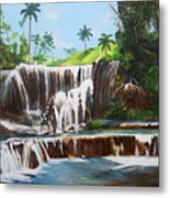 Leaping Waterfall Metal Print