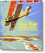 Learn To Fly Vintage Poster Restored Metal Print