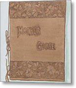 Leather Book Cover Metal Print