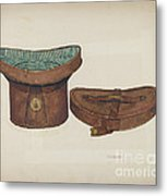 Leather Hat Box Metal Print