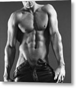 Leather Lothario Metal Print