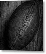 Leather Pigskin Football Metal Print