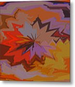 Leaves Abstract - Autumn Motif Metal Print