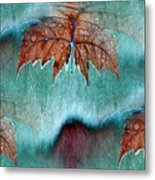 Leaves And Rain 6 Metal Print