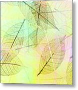 Leaves Background Metal Print