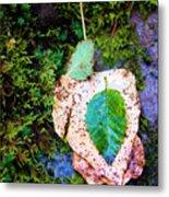 Leaves In A Pile Metal Print