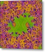 Leaves In Fractal 2 Metal Print