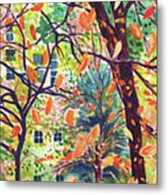 Leaves In Nyc Metal Print