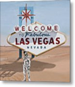 Leaving Las Vegas Metal Print