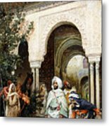 Leaving The Alhambra Metal Print