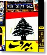 Lebanon Famous Icons Metal Print