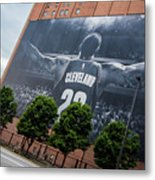 Lebron James Banner Metal Print