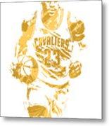 Lebron James Cleveland Cavaliers Pixel Art 7 Metal Print