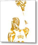 Lebron James Cleveland Cavaliers Pixel Art 71 Metal Print