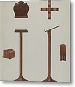 Lectern (reading Stand) Metal Print