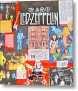 Led Zeppelin Color Collage Metal Print