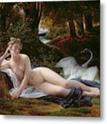 Leda And The Swan Metal Print by Francois Edouard Picot