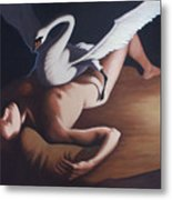 Leda And The Swan Metal Print