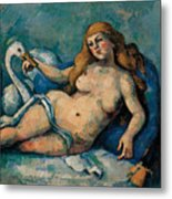 Leda And The Swan Metal Print by Paul Cezanne