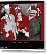 Lee Harvey Oswald Shot By Jack Ruby Photo Taken By  Dallas Times Herald Photographer Bob Jackson  Metal Print