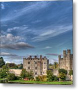 Leeds Castle And Moat Rear View Metal Print