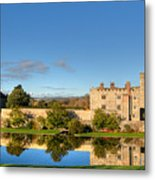 Leeds Castle And Moat Reflections Metal Print