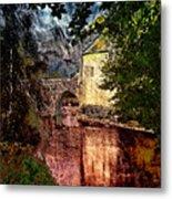 Leeds Castle Gatehouse And Moat Metal Print