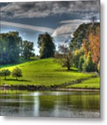 Leeds Castle Lake View Metal Print