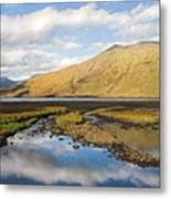 Leenane Reflection Irish Landscape Metal Print