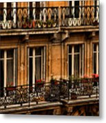 Left Bank Balconies Metal Print