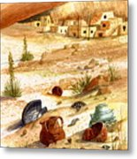 Left Behind - Indian Pottery Metal Print