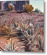 Left Mitten And Yucca Metal Print
