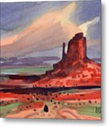 Left Mitten At Sunset Metal Print