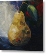 Leftover Pear Metal Print