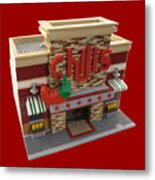 Lego Chili's Restaurant Metal Print