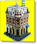 Lego Corner Shop And Apartments Metal Print