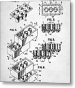 Lego Toy Building Brick Patent Metal Print
