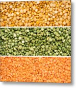 Legumes Triptych Metal Print