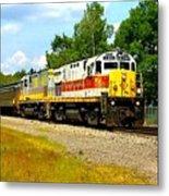 Lehigh Valley/ Lackawanna Engines Metal Print