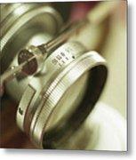 Leica 3c Macro Lens Aperture Ring Metal Print