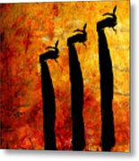 Lemmings Metal Print