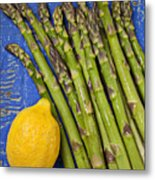 Lemon And Asparagus  Metal Print