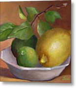 Lemon And Limes Still Life Metal Print