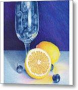 Lemon Blueberry Muffins Metal Print by Elizabeth Dobbs