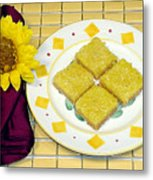 Lemon Candy Bars Metal Print