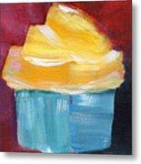 Lemon Cupcake- Art By Linda Woods Metal Print