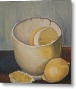 Lemon In A Bowl Metal Print